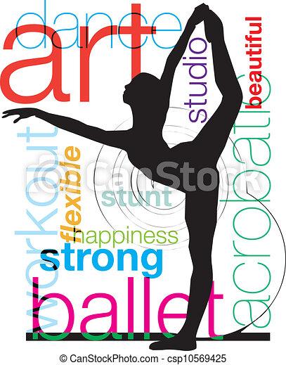 vettore, illustrazione, balletto - csp10569425