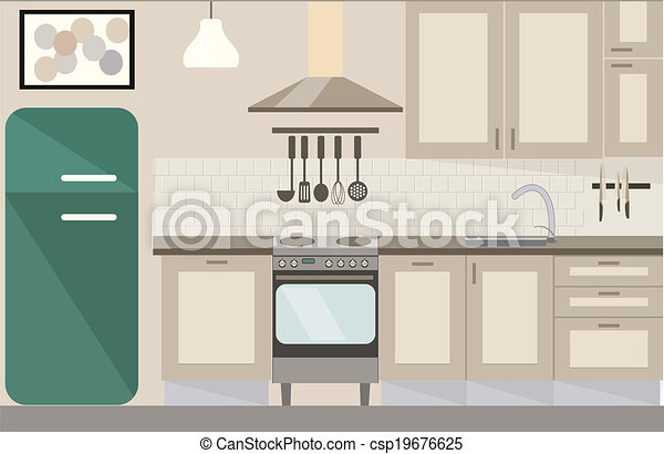 vettore, illustrazione, cucina - csp19676625