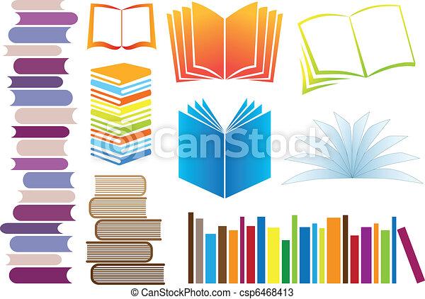 vettore, libri - csp6468413