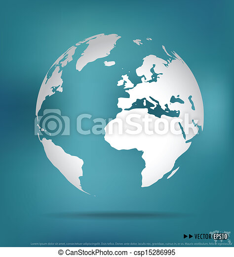 vettore, moderno, globe., illustration. - csp15286995