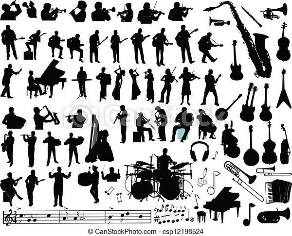 vettore, musica - csp12198524