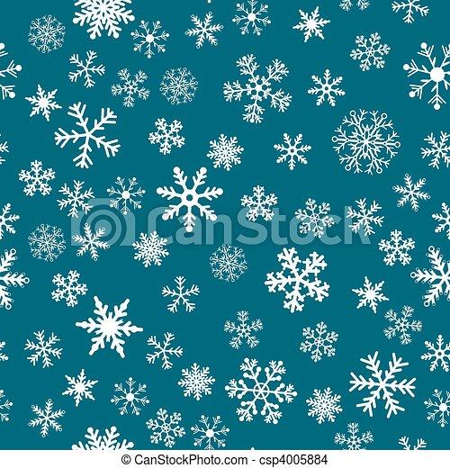 vettore, neve, fondo, seamless - csp4005884