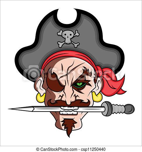 vettore, pirata, illustrazione, mascotte - csp11250440