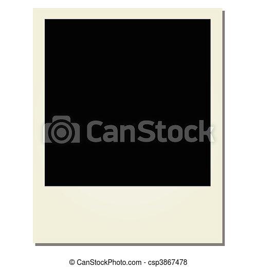 vettore, polaroid - csp3867478