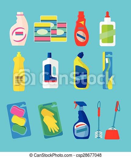 vettore, prodotti, pulizia - csp28677048