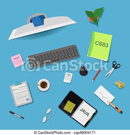 vettore, programmazione, illustrazione - csp49004171