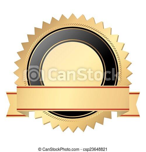 vettore, qualità, sagoma, sigillo - csp23648821