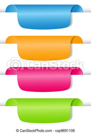 vettore, set, etichetta, labels., illustrazione - csp9691108