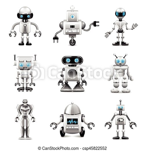 vettore, set, robot, icone - csp45822552