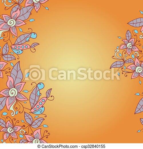 vettore, struttura, astratto, pattern., seamless, fiore - csp32840155