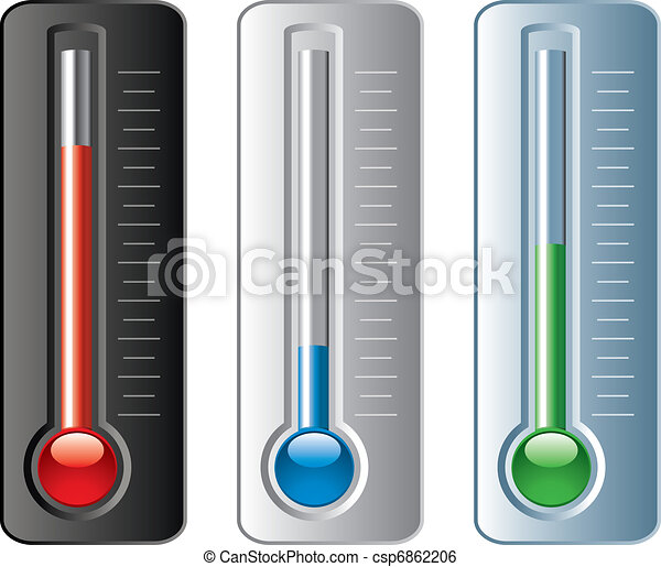 vettore, termometri, set - csp6862206