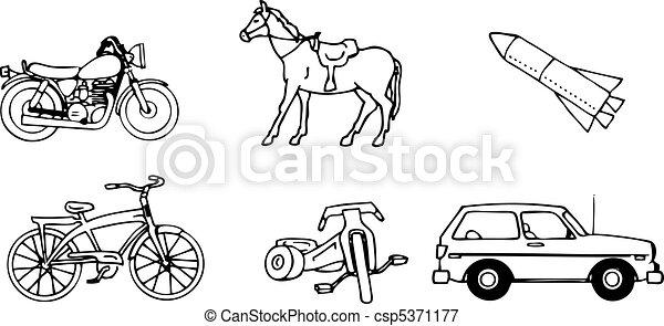 vettore, veicoli - csp5371177