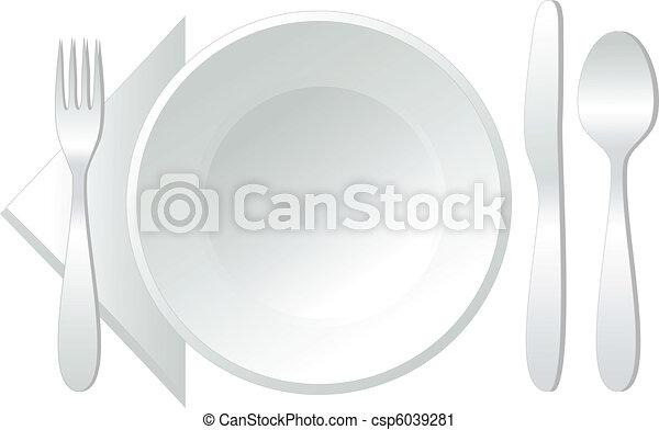 vettore, vuoto, piastra - csp6039281