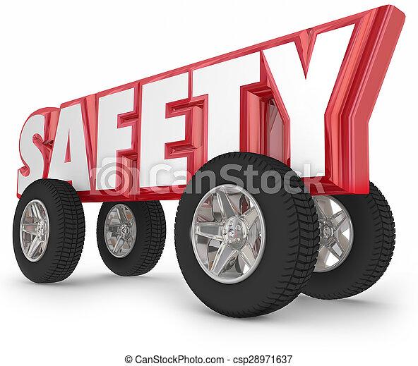 vezetés, döntések, utazás, páncélszekrény, gumiabroncsok, biztonság, tol, út - csp28971637