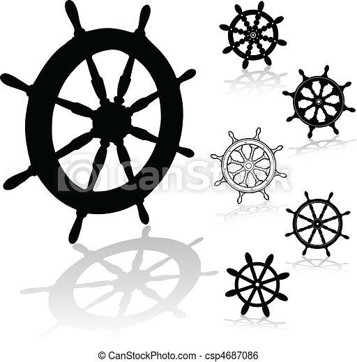 vezetés, gördít, fekete, kormányzó - csp4687086