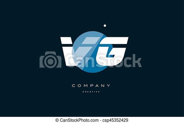 Vg V G Blue White Circle Big Font Alphabet Company Letter Logo Vg