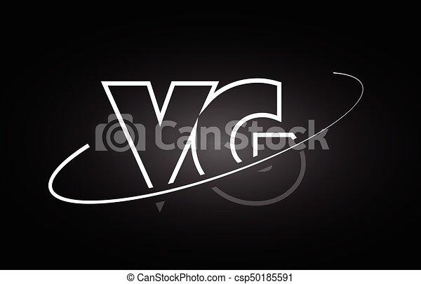 Vg V G Letter Alphabet Logo Black White Icon Design Vg V G Letter