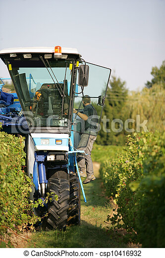Tractor Vineyard - csp10416932