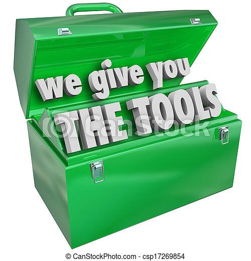 vi, tjeneste, giv, færdigheder, værdifuld, toolbox, redskaberne, du - csp17269854