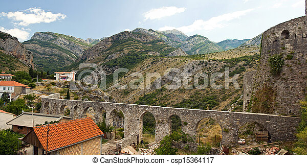 viaduct in the mountains - csp15364117