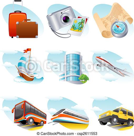 viagem, ícone - csp2611553