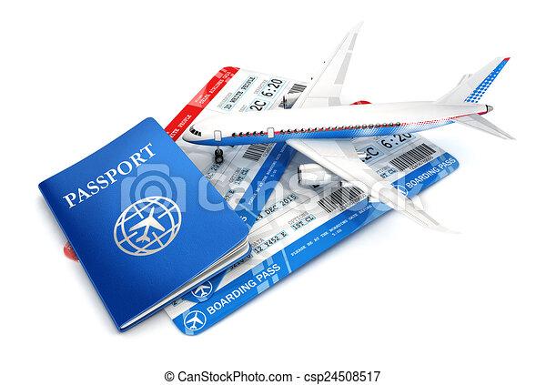 viagem, conceito, 3d - csp24508517