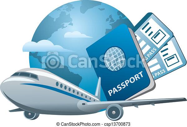 viagem, conceito, ar - csp13700873
