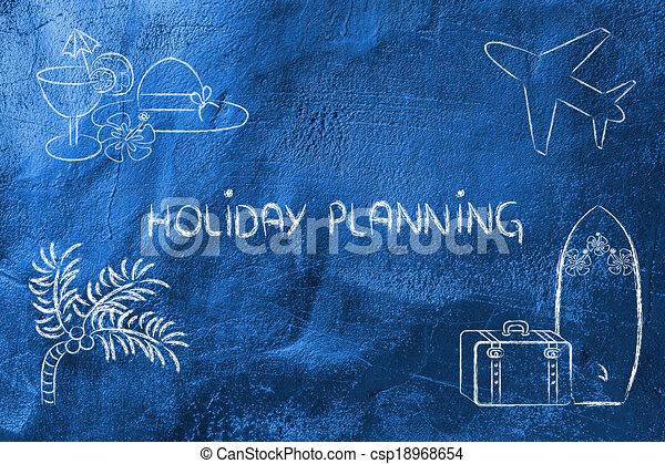 viagem feriado, planificação, industry:, reserva - csp18968654