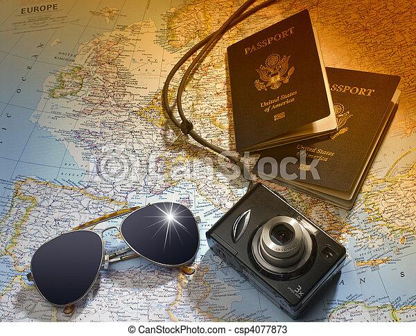 viagem, planos - csp4077873
