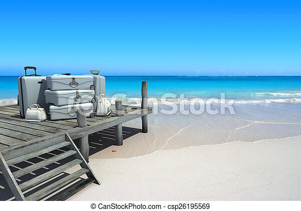 viagem, praia, luxo - csp26195569
