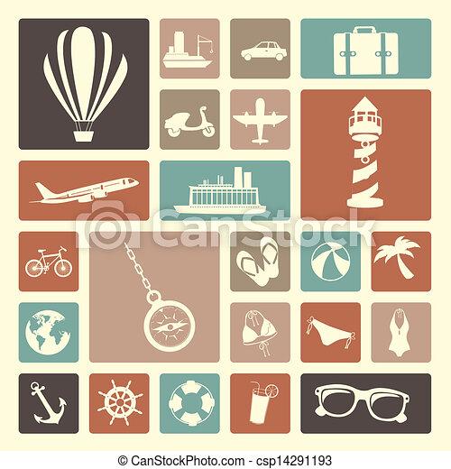 viagens, ícones - csp14291193