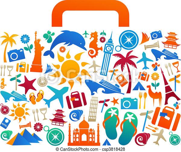 viaggiare, 2, -, valigia - csp3818428