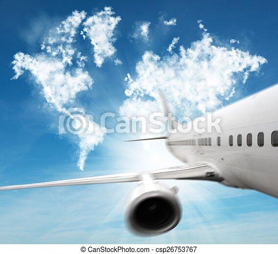 viaggiare, aereo - csp26753767