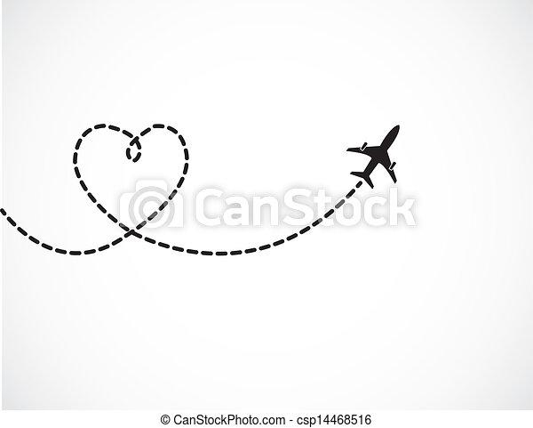 viaggiare, amore, concetto - csp14468516