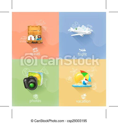 viaggiare, concetti, icone - csp29303195