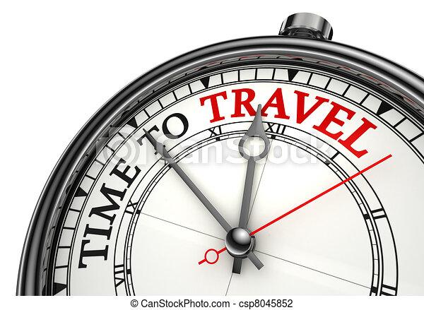 viaggiare, concetto, orologio tempo - csp8045852