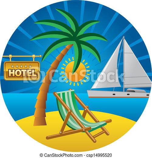 viaggiare, concetto, spiaggia - csp14995520