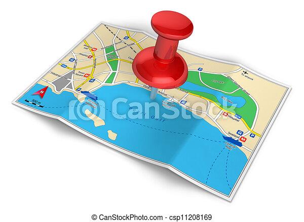 viaggiare, concetto, turismo, navigazione, gps - csp11208169