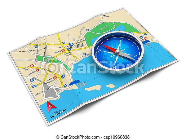 viaggiare, concetto, turismo, navigazione, gps - csp10960838