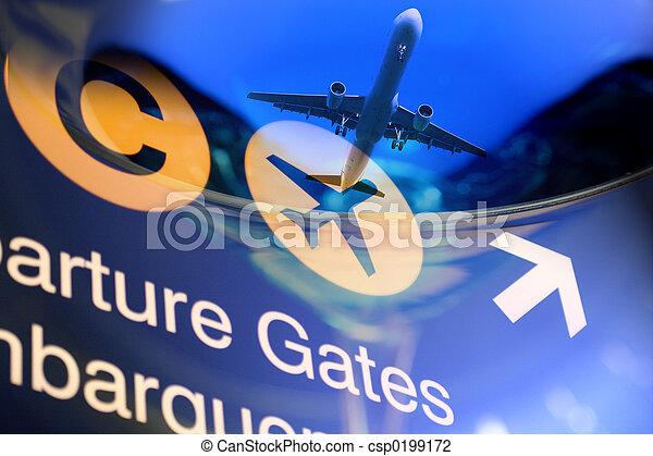 viaggiare, disegno - csp0199172