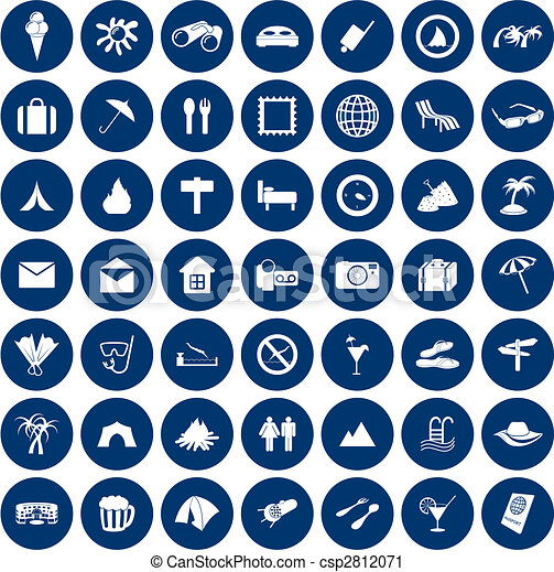 viaggiare, set, icone - csp2812071