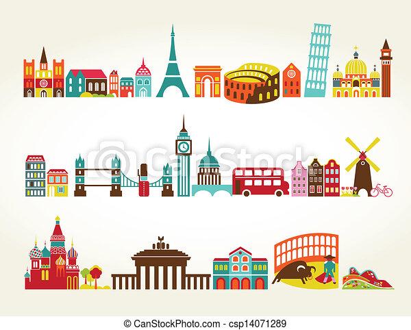 viaggiare turismo, posizioni - csp14071289