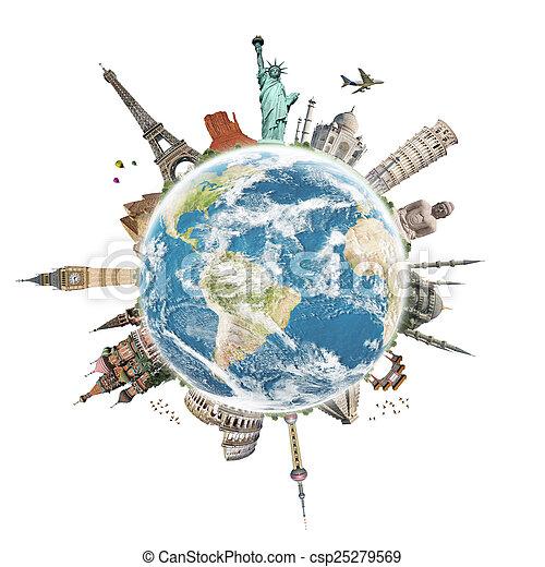 viaggio mondo, concetto, monumento - csp25279569