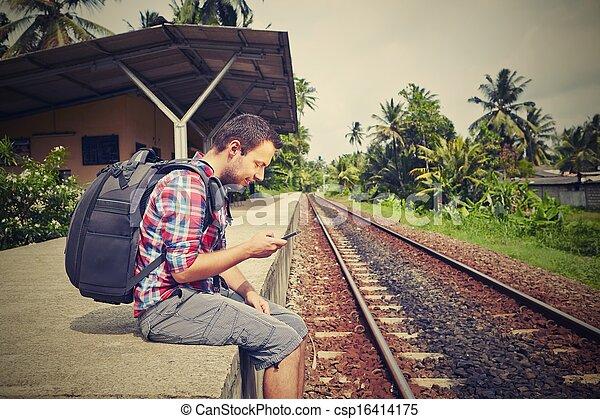 viajante, jovem - csp16414175