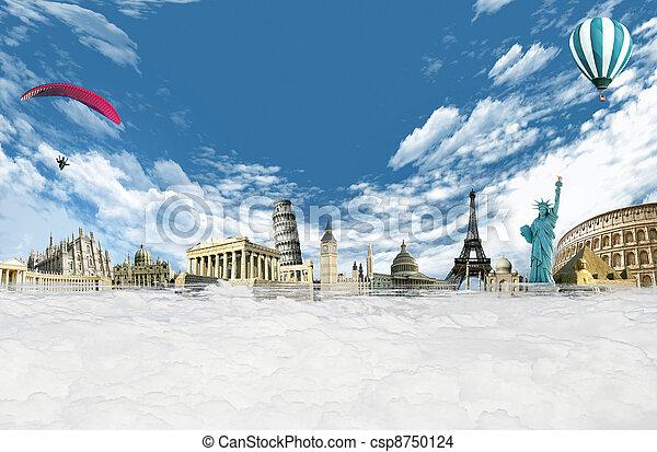 viajar de mundo, alrededor - csp8750124
