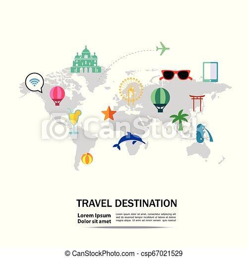 Viaja alrededor del vector mundial. - csp67021529