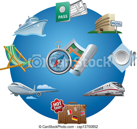 viaje ícones - csp13700852