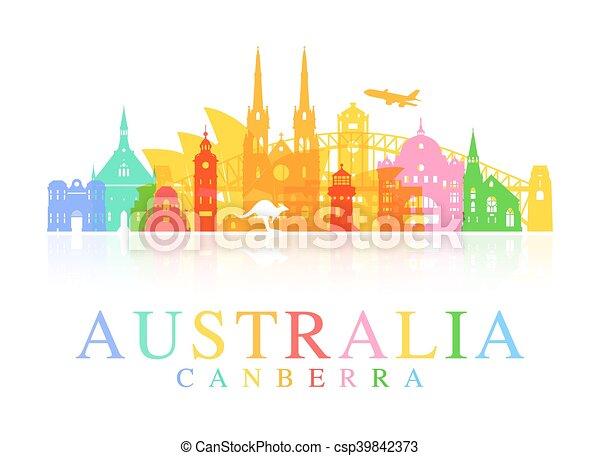 Los monumentos de Australia. - csp39842373