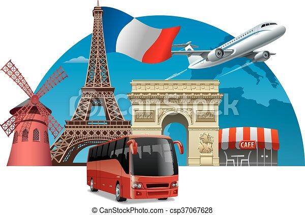Tour en Francia - csp37067628