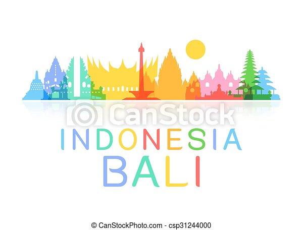 Indonesia viaja puntos de referencia. - csp31244000